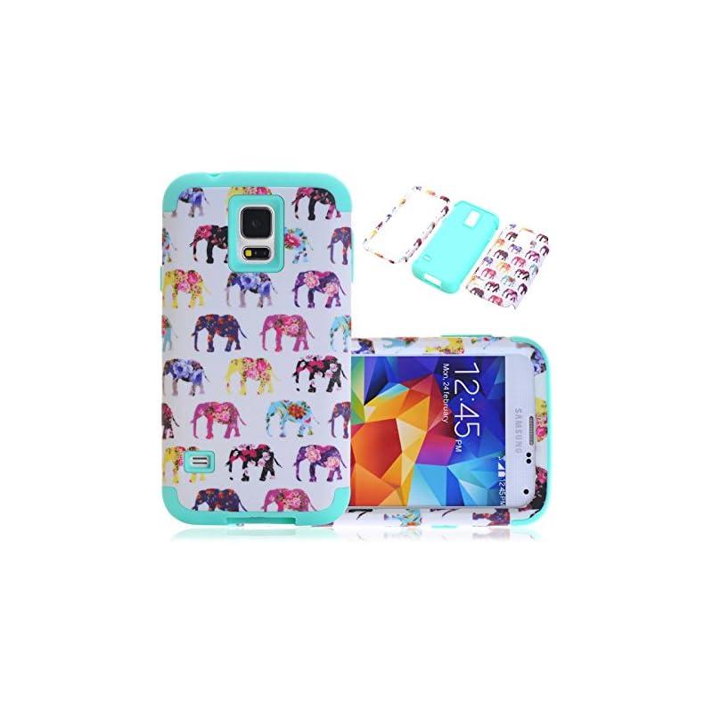 S5 Case, Galaxy S5 Case, CexCob Elephant