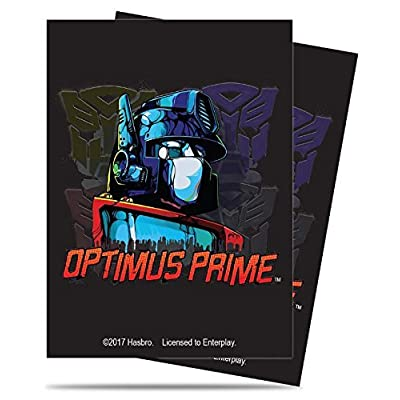 Ultra Pro Transformers Optimus Prime Deck Protectors Sleeves (65 count) Standard Size: Toys & Games