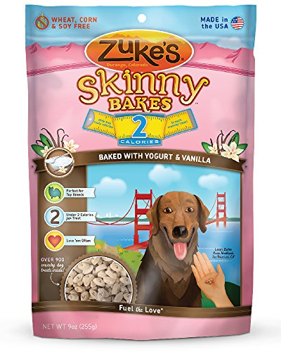 Zuke'S Skinny Bakes Dog Treats, Yogurt And Vanilla, 2-Calories, 9-Ounce