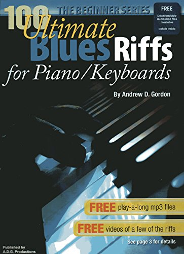 100 Ultimate Blues Riffs for Piano/Keyboards Beginner Series Book/audio files