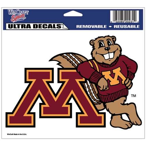 WinCraft NCAA University of Minnesota Multi-Use Colored Decal, 5