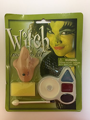 [Witch Makeup Kit With a Funny and Hideous Nose, Hallowen Nigth, Costume.] (Witch Nose)