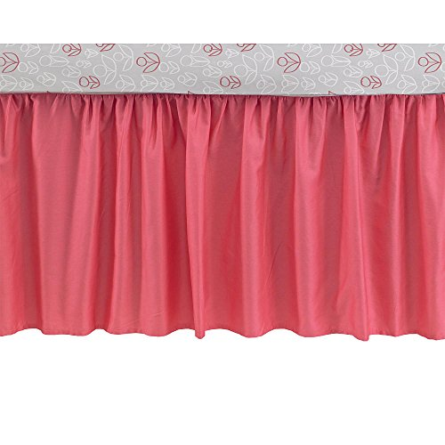 (CoCaLo Collection Coral Cotton Sateen Gathered Dust Ruffle Crib Bed Skirt)
