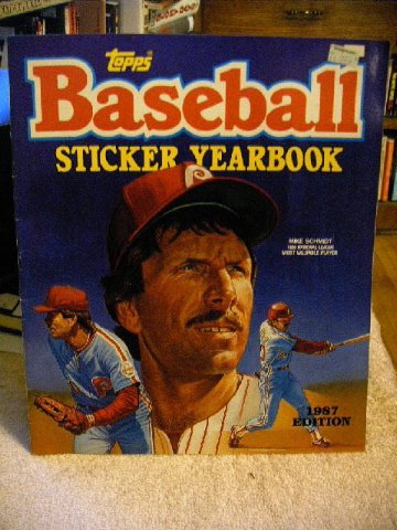Topps Chewing Gum (Topps Baseball Sticker Yearbook - 1987 Edition w/ Mike Schmidt)