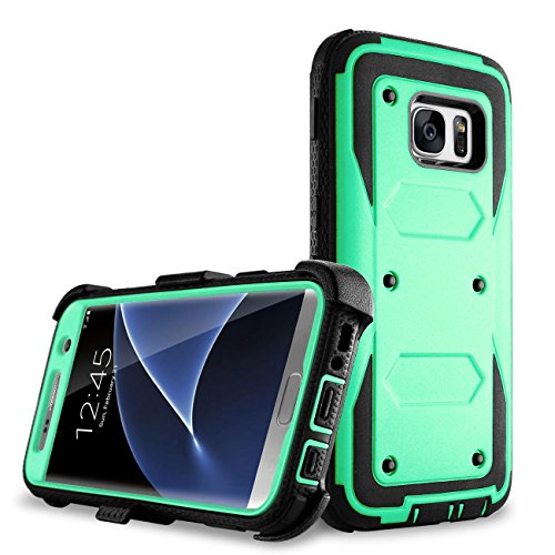 Galaxy S7 Edge case, Samcore Full body Protective Shock Reduction Belt Clip Case With Rugged Holster, WITHOUT Built in Screen Protector for Samsung Galaxy S7 Edge [Not for Regular S7] [MINT GREEN]