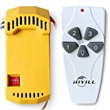 HiYill lighting 18R/53T Universal Ceiling Fan Remote Control Kit Replacement For Harbor Breeze 43147,Gray