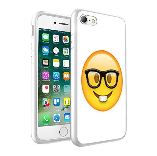 iPhone X étui Peau de couverture, Protection unique personnalisée couverture rigide mince Thin Fit PC Étui de protection résistant aux rayures Couverture pouriPhone X - Emoji 0007