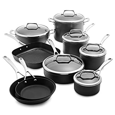 Sur La Table Dishwasher-Safe Hard Anodized Nonstick 15-Piece Set 83632-C