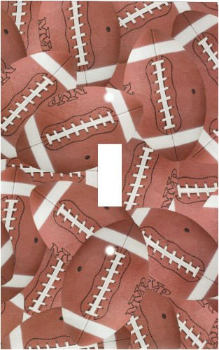 Football Switchplate Cover (Football Collage Decorative Switchplate Cover)
