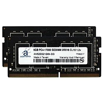 Image of Adamanta 16GB (2x8GB) Laptop Memory Upgrade for HP HP EliteBook, EliteDesk, Probook, Z1, Z2, ZBook, ZBook Studio DDR4 2133Mhz PC4-17000 SODIMM 1Rx8 CL15 1.2v DRAM RAM Memory