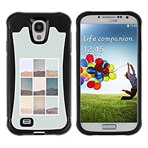 "Pulsar iFace Series Tpu silicona Carcasa Funda Case para Samsung Galaxy S4 IV I9500 , Naturaleza Diseño minimalista cartel gris"""