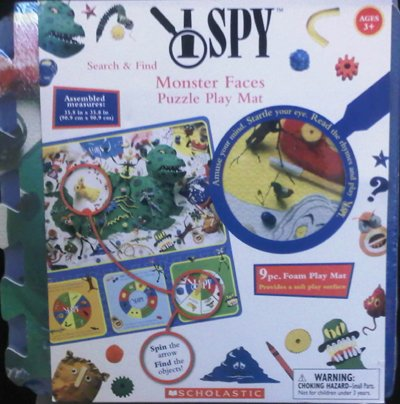 I SPY Search & Find Monster Faces Puzzle Play Mat
