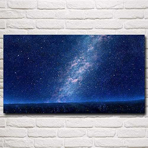 N / A Pintura sin Marco Universe Space Galaxy Starry Oil Painting Art Poster Wall Decoration picture44X80cm