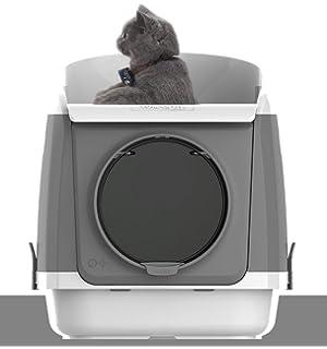 ZCY Extra Grande Cajas De Arena para Gatos, Al Pin Bandeja Higiénica Prevención De Salpicaduras