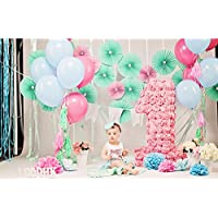 Photography Background 5x7 Pink Photography Backdrop Newborn 1st Birthday Photo Backdrop for Party Paper Flowers Backdrops for Girls