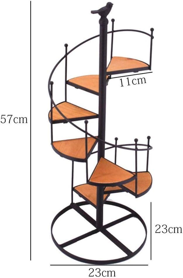 ESTANTERIAS De Macetas, Estantes De Exhibición De Escalera De Caracol De Metal Negro De 8 Niveles, Estante De Almacenamiento De Adornos De Oficina RETT Para La Oficina Europea: Amazon.es: Jardín