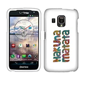 Fincibo (TM) Protector Cover Case Snap On Hard Plastic Front And Back For Pantech Perception ADR930L - Hakuna Matata
