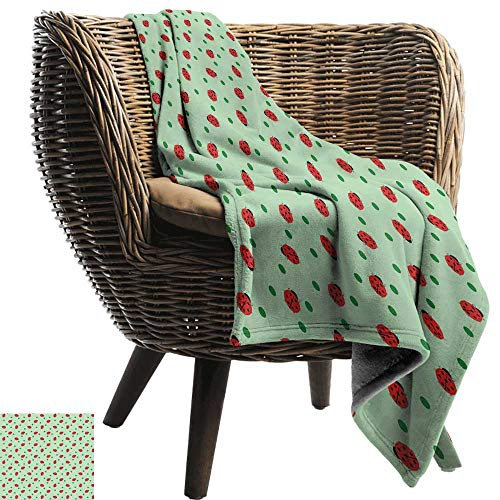 Sillgt Beds Blanket Ladybugs Traditional Polka Dots Background Abstract Cute Ladybug Insects Fun Design Blanket on Bed Sofa Bedding 72