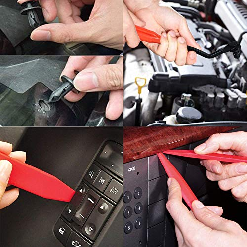 Auto Clips Car Retainer Body Clips Door Bumper Trim Clips Replacement Parts  Car Trim Removal Tool Set 6 Pcs with Fastener Remover for Car Dash Radio