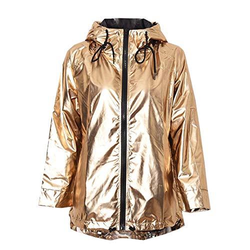 (RoseLily Women's Lightweight Waterproof Windbreaker with Hood, Long Rain Jacket Casual)