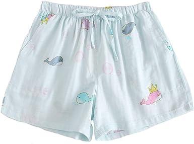 Pantalones cortos de dormir para mujer Pantalones de pijama transpirables de algodón Loungewear: Amazon.es: Ropa y accesorios