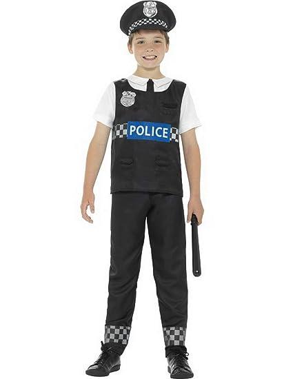 Halloweenia Disfraz de policía para niños, Parte Superior de ...