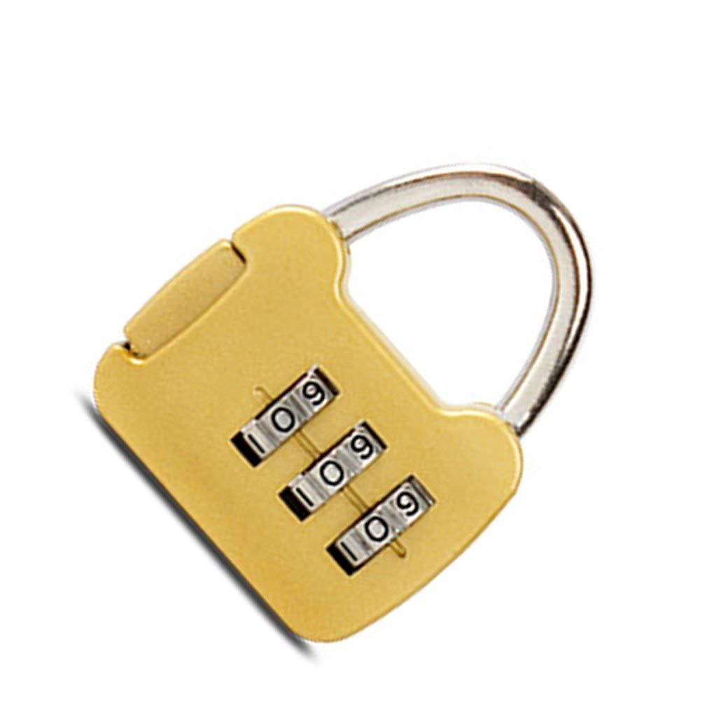OmkuwlQ Mini 3 Digit Combination Password Lock Alloy Security Lock Suitcase Luggage Coded Lock Cabinet Locker Padlock