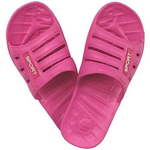 1 Paar Damen Badelatschen, Freizeitlatschen, Badepantoletten Größe: 39, pink, pi-39