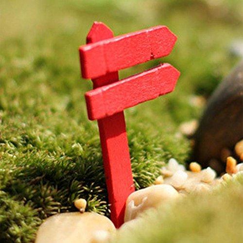 1 Pcs DIY Colorful Signpost - Artificial Miniature Fairy Garden Ornament Wood Crafts sinotech