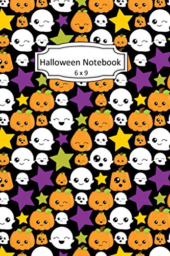 Cute Halloween Pumpkin Clipart (Halloween Notebook: Cute Autumn Clip Art Images on 6 x 9 Blank Lined Softcover Journal for Notes , Halloween Gift Design Cover Note)