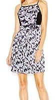 Jessica Simpson Womens Pleated Floral Print Sheath Dress