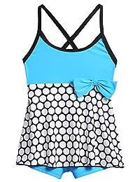 Arshiner Toddler Kids Girl Polka Dot Swimwear Bathing Suit,3-8Y