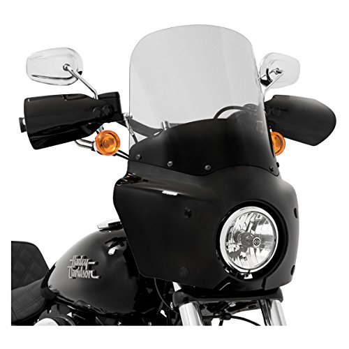 Memphis Shades Ghost Light Tint 15 Inch Windshield for Road Warrior Fairing: Harley Davidson Dyna 2006 and Later (More Size Options) (Light 3 Memphis)