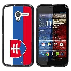 - Flag - - Monedero pared Design Premium cuero del tir¨®n magn¨¦tico delgado del caso de la cubierta pata de ca FOR Motorola Moto X 1ST Gen Funny House