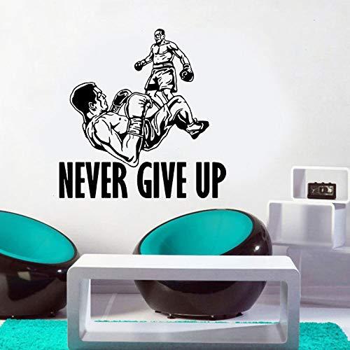 mgrlhm Nunca te Rindas Boxeo Tatuajes de Pared Cita de motivación ...