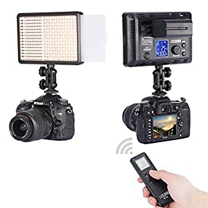 Neewer LED308C 308PCS LED Ultra High Power Dimmable Video Light with Built-in LCD Panel for Canon,Nikon,Pentax,Panasonic,Sony,Samsung, Olympus and Other Digital DSLR Cameras or Camcorders