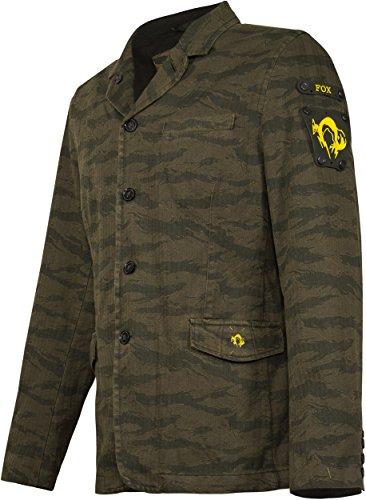 Musterbrand Metal Gear Solid Blazer Herren Tiger Stripe Tarnmuster Grün