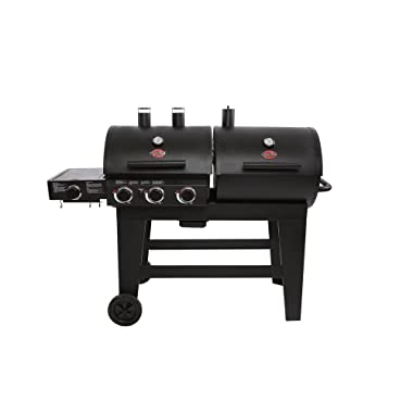 Char-Griller Double Play 1,260 sq, in. 3-Burner Gas and Charcoal Grill in Black