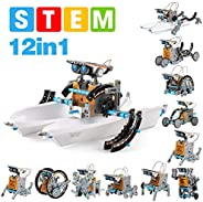 GP TOYS 12 in 1 STEM Solar Robot Kit , Educational Learning Science Building Toys for Kids Age 8+ Years Old Bo
