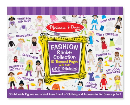 Doug Fashion (Melissa & Doug Sticker Collection Book - Fashion, 600+ Stickers, 10 Pages)