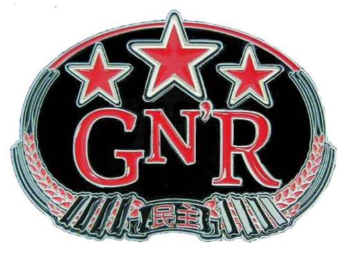 Guns N' Roses Chinese Democracy Novelty Belt (Guns N Roses Belt Buckle)