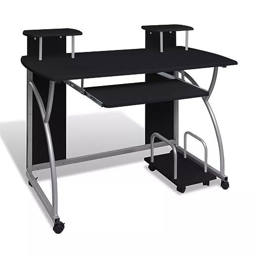 Bandeja extraíble para computadora portátil, Acabado Negro, Mueble ...