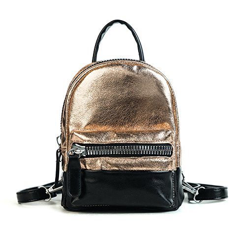 Multipurpose Shoulder Small Meaeo Bag Bread Backpack Bag Plated Golden Bright H46nvqB6