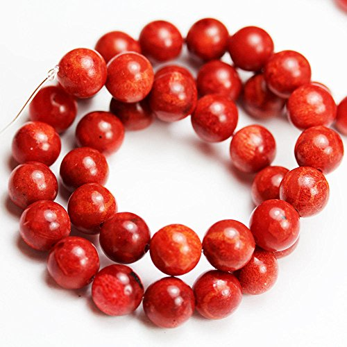 (Red Sponge Coral Beads, One full strand, Round shape 10.5mm Gemstone, hole 1mm,16
