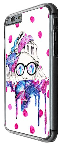1281 - Cool Fun Trendy cute kwaai girl sunglasses fashion bloggers favourite winter snow Design iphone 5C Coque Fashion Trend Case Coque Protection Cover plastique et métal - Clear
