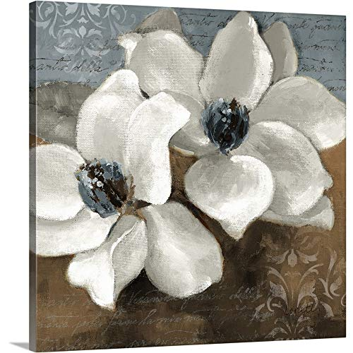 White Magnolias II Canvas Wall Art Print, 16