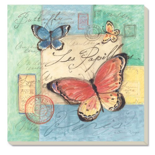 CounterArt Absorbent Coasters Butterflies Square