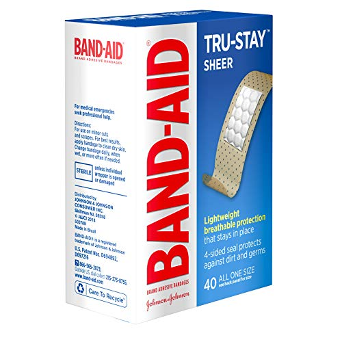 Band-Aid Brand Tru-Stay Sheer Strips Adhesive Bandages for First Aid and Wound Care, All One Size, 40 ct by Band-Aid (Image #5)