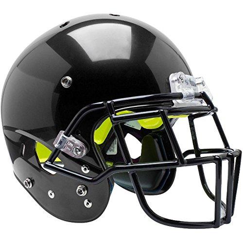 (Schutt Sports Air Standard V Helmet and Facemask, Black/Black, Medium)