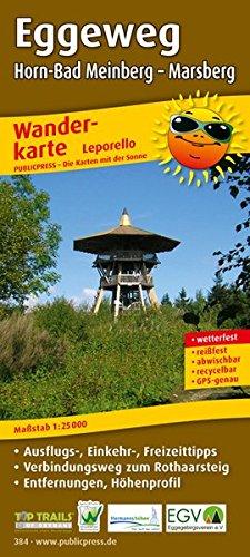 Eggeweg, Horn-Bad Meinberg - Marsberg: Leporello Wanderkarte mit Ausflugszielen, Einkehr- & Freizeittipps und Verbindungsweg zum Rothaarsteig, ... 1:25000 (Leporello Wanderkarte / LEP-WK)